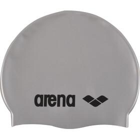 arena Classic Silicone Cuffia Bambino, silver-black